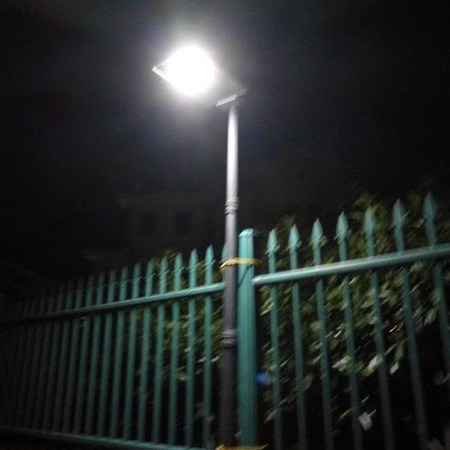 solar garden fence light project application