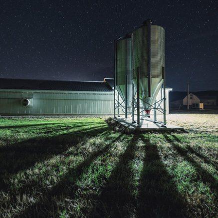 solar farm street light