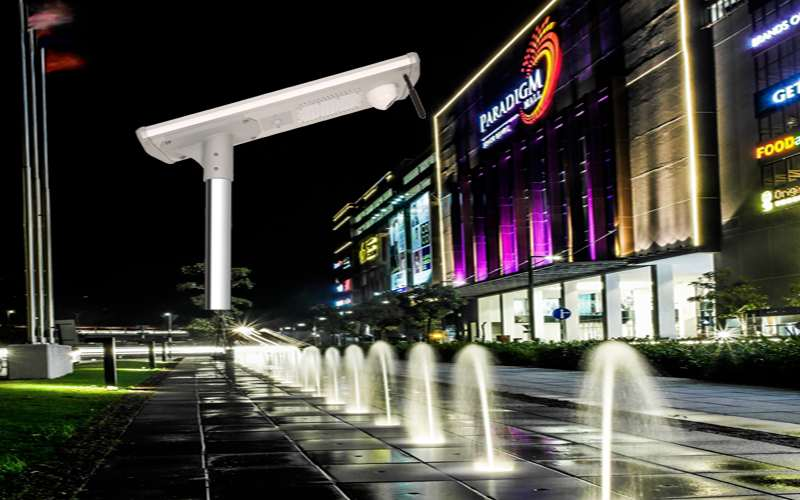 Solar Powered Security Light Reduces Crime Rate in Johor Bahru in Malaysia