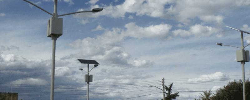Lámpara solar vial
