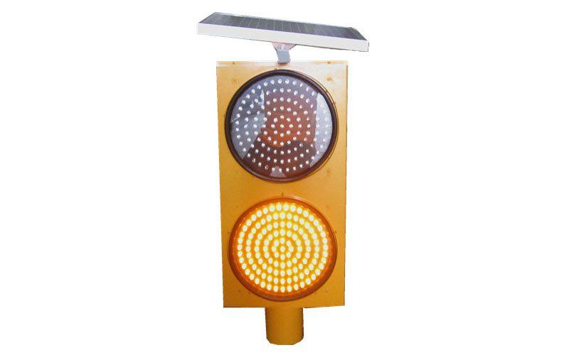 solar warning traffic light
