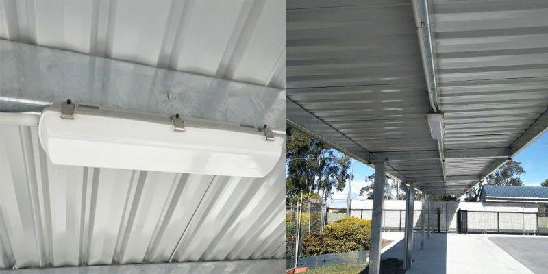 solar covered walkway light