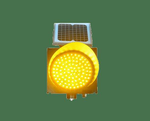 solar traffic safety warning yellow lights